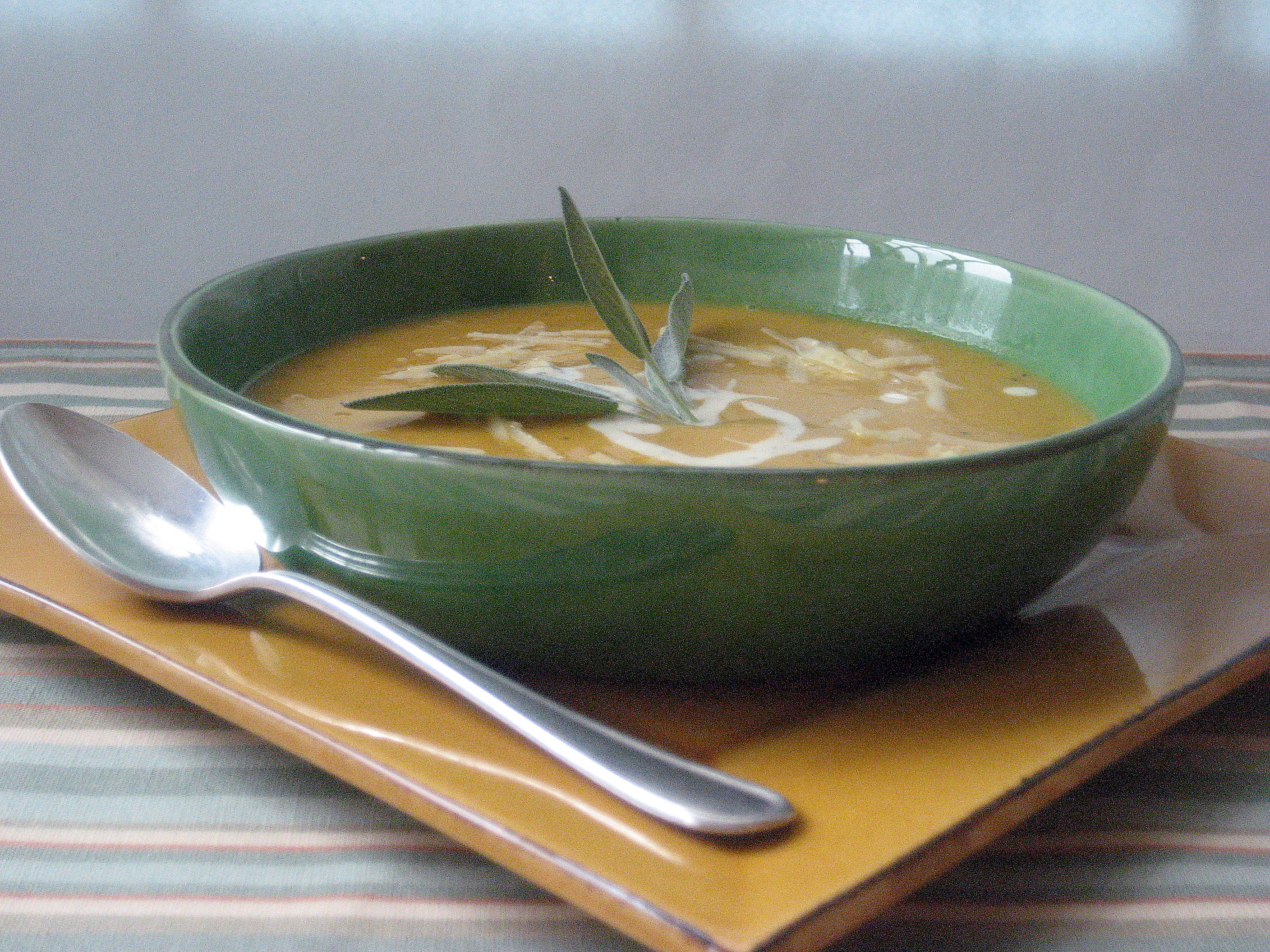 Roasted Butternut Squash Soup with Sage Cream | Betty Rosbottom