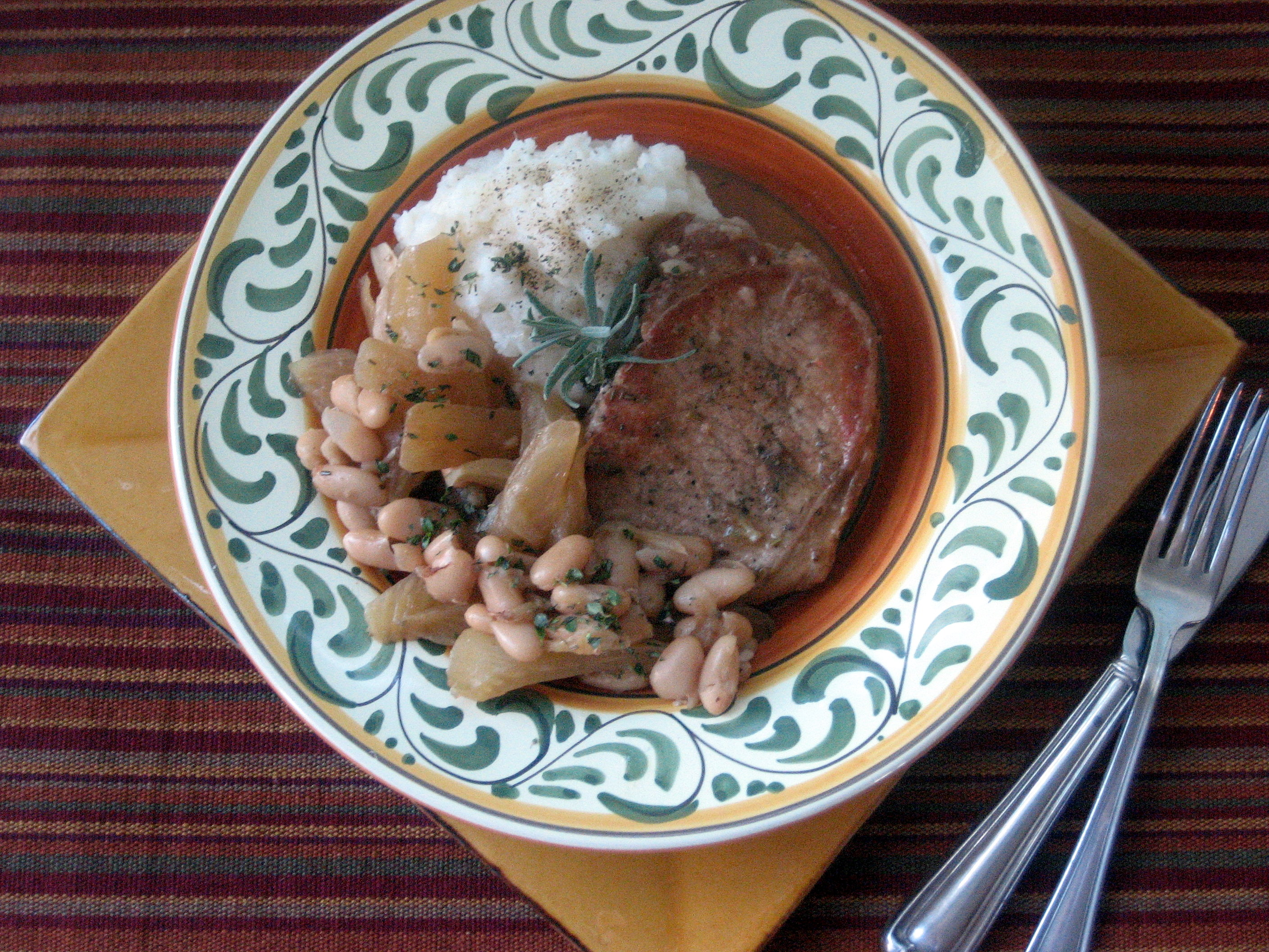 Braised Pork Chops with Fennel and White Beans | Betty Rosbottom