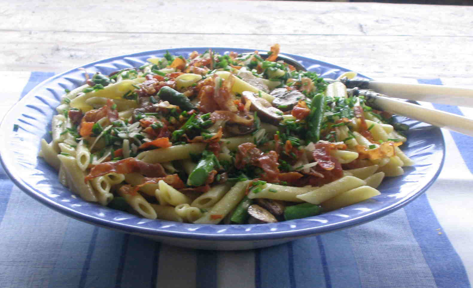... with asparagus grain penne with asparagus to be back with you again